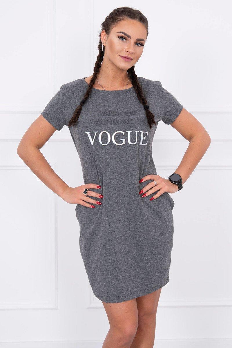 83340c2e1 Športové šaty s krátkym rukávom Vogue tmavo sivé