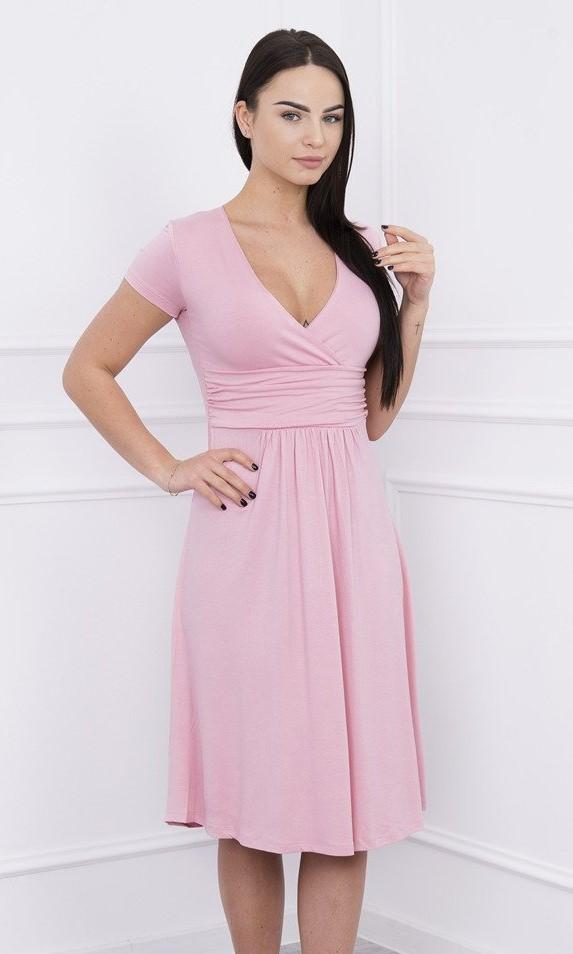 c5edb5cd96b9 KESI Ne tehu šaty s výstrihom svetlo ružové EUR 46