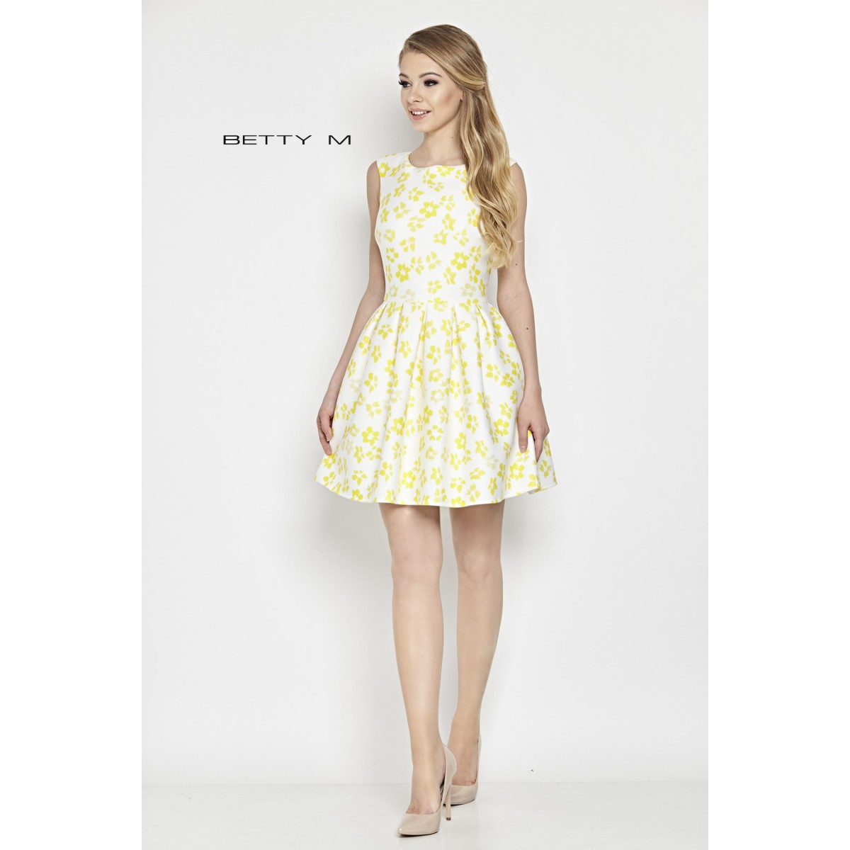 64c422498b89 Šaty Žlté kvety