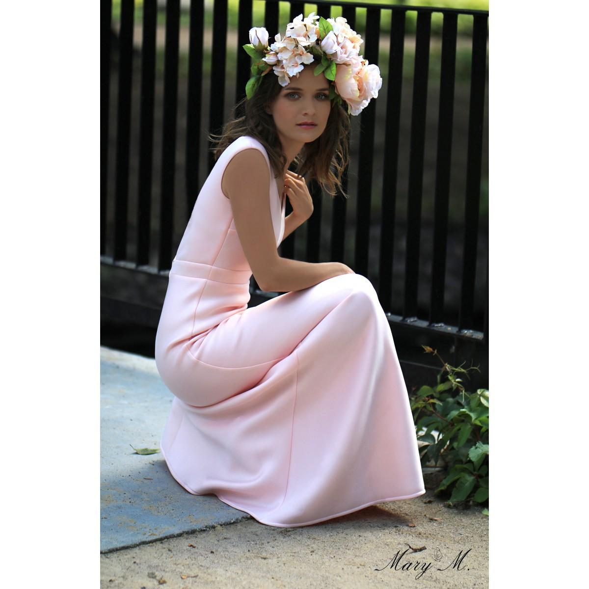 Dlhé púdrovo ružové šaty 972a0261b8c