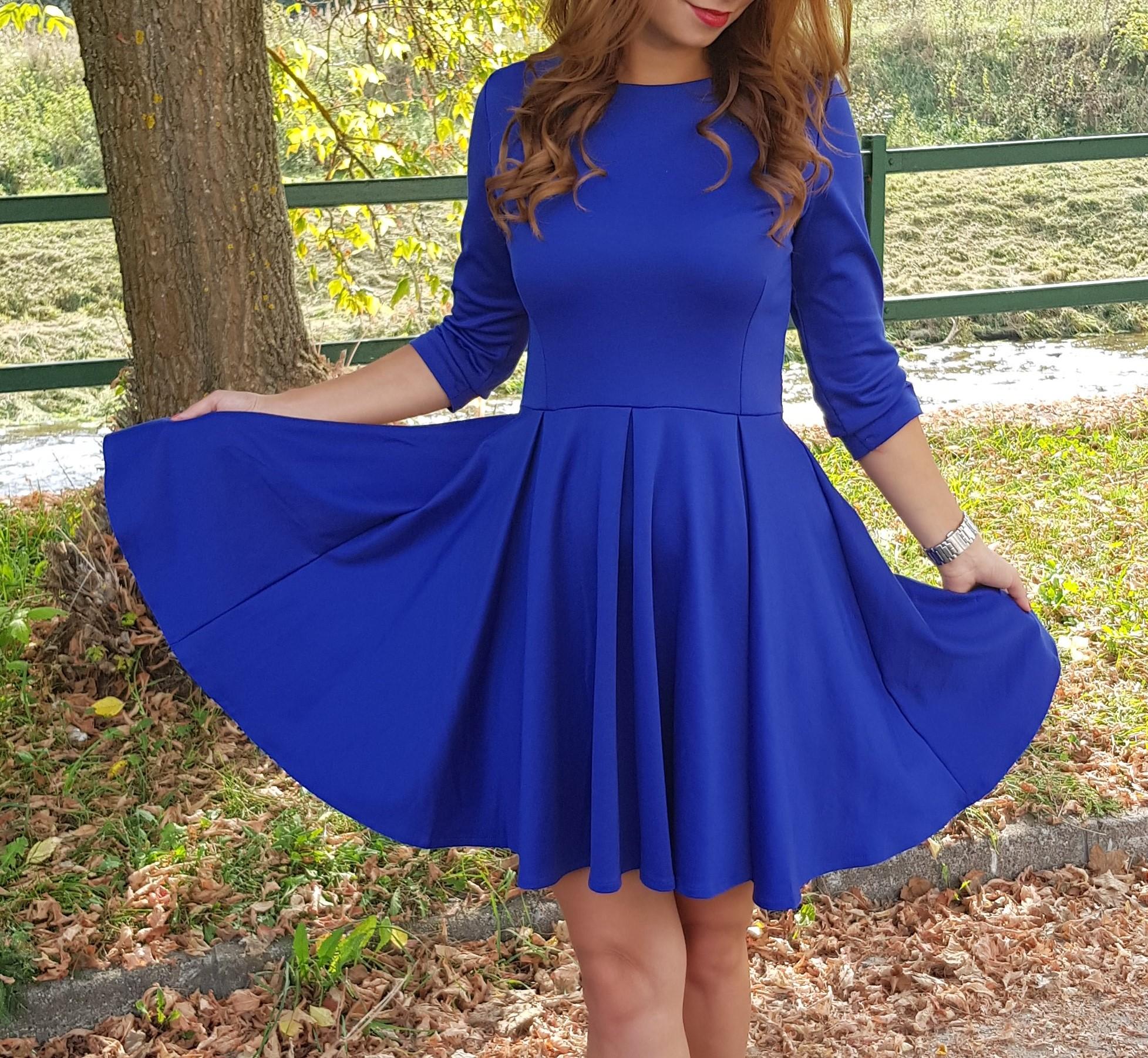 3b2727255ddf COCOVIU Kráľovsky modré šaty Šafran