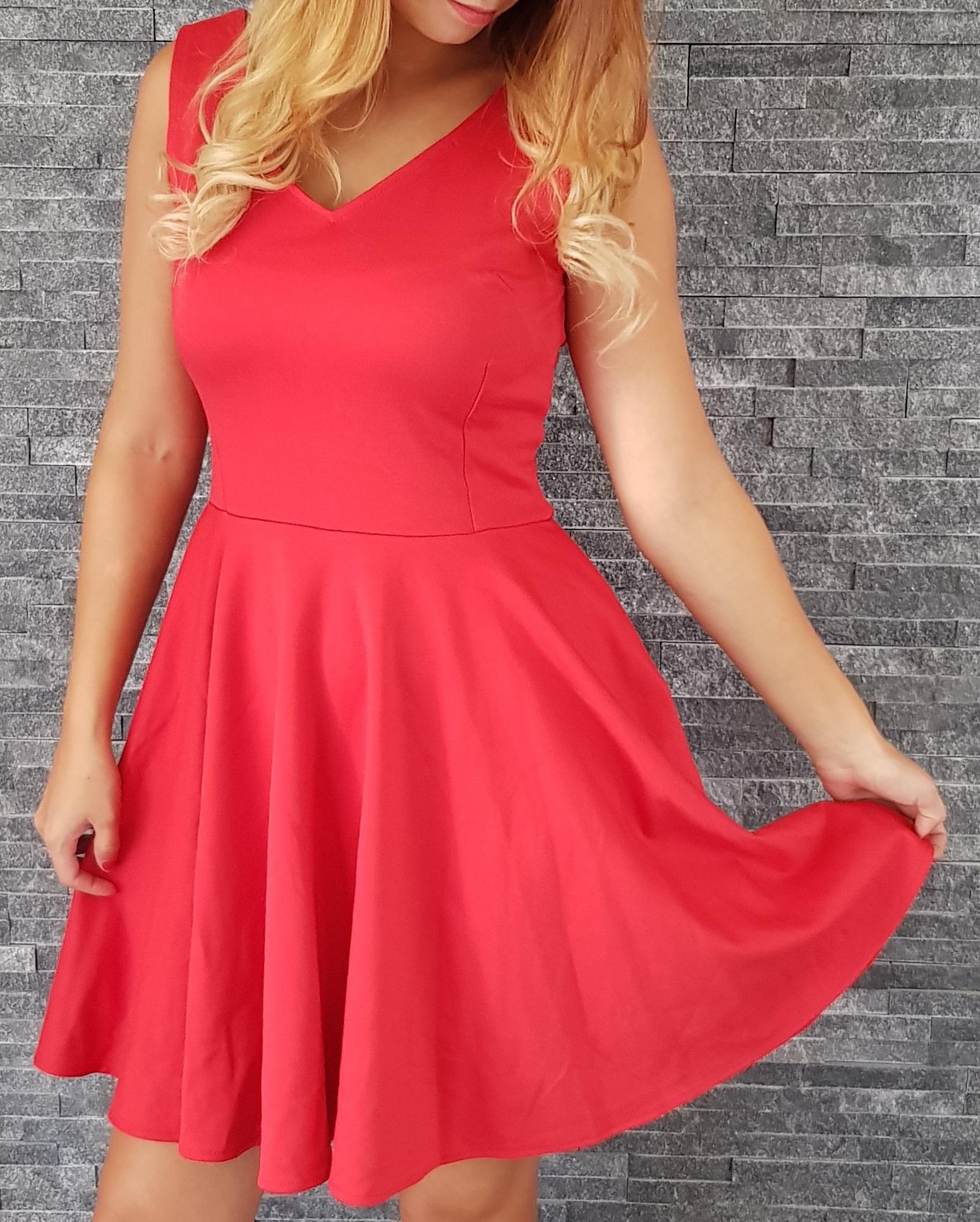COCOVIU Červené koktejlové šaty Ľalia EUR 36 8e779ec6af4
