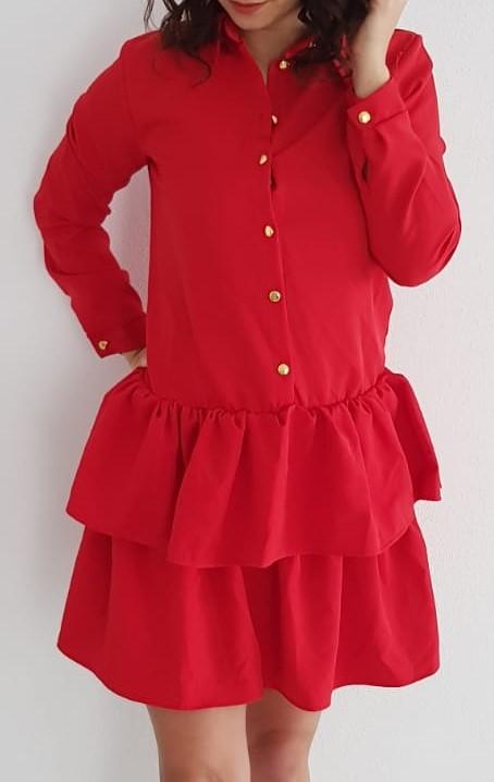 cd0d24964843 KESI Košeľové šaty červené EUR 36 38