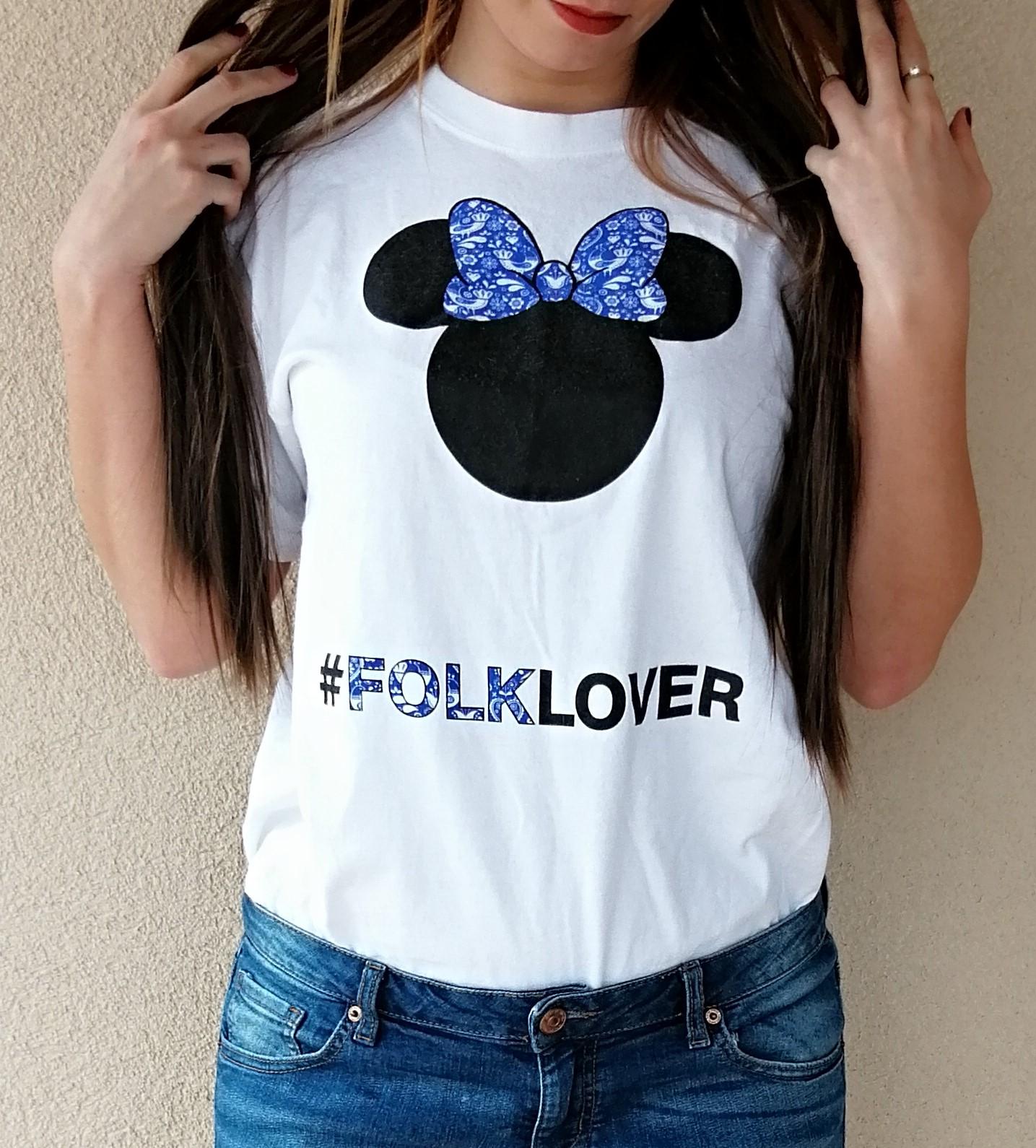 7283b6fe3218 Dámske tričko FOLKLOVER modré