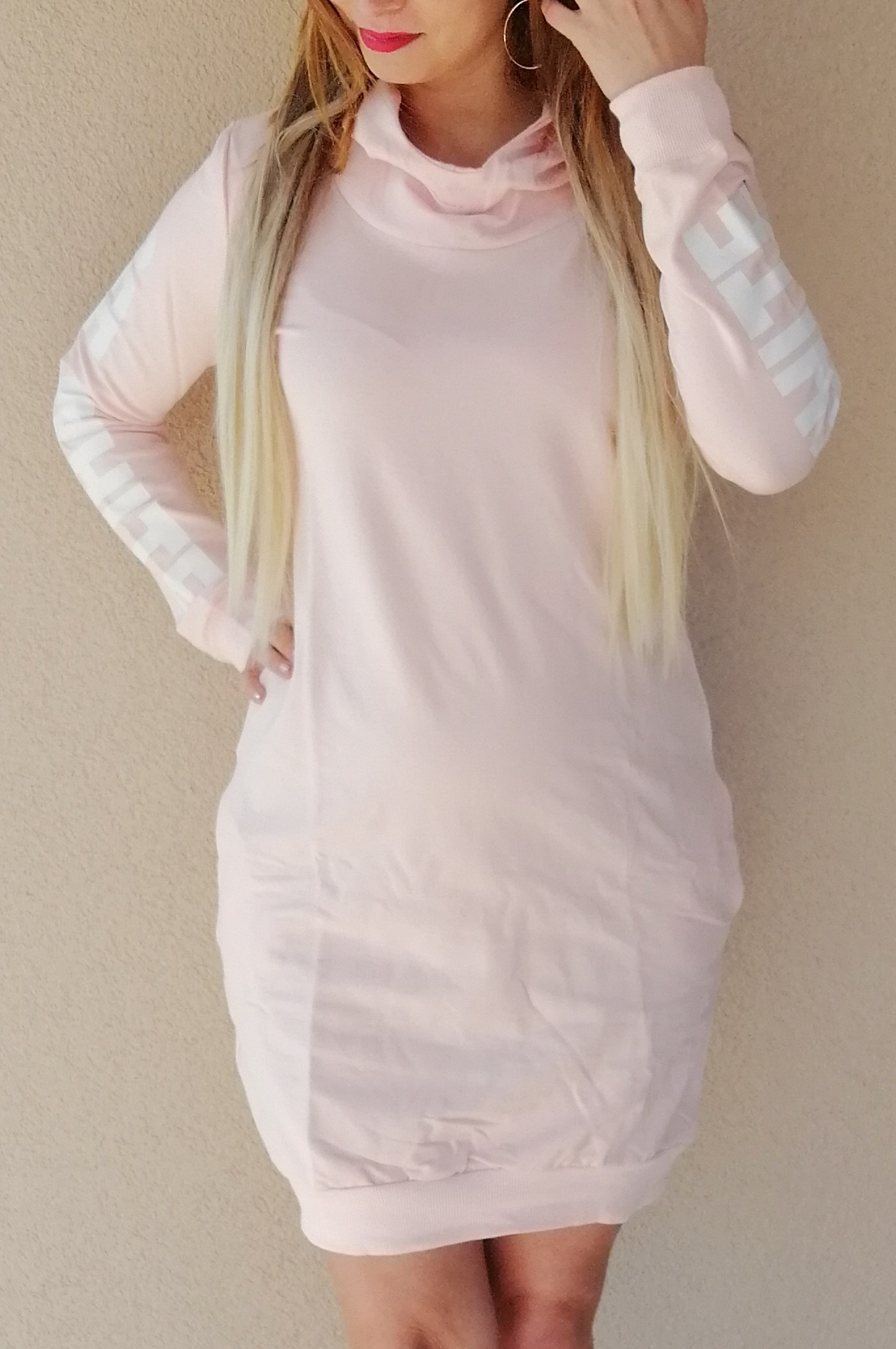 76f694a4643c Športové šaty OFF-WHITE slabo ružové