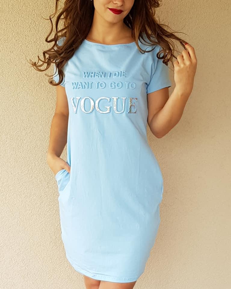 a1f315d36 Športové šaty s krátkym rukávom Vogue