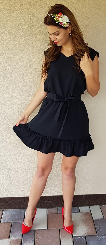 KESI Letné šaty s mašľou Vogue čierne EUR 38 22b87e9043e