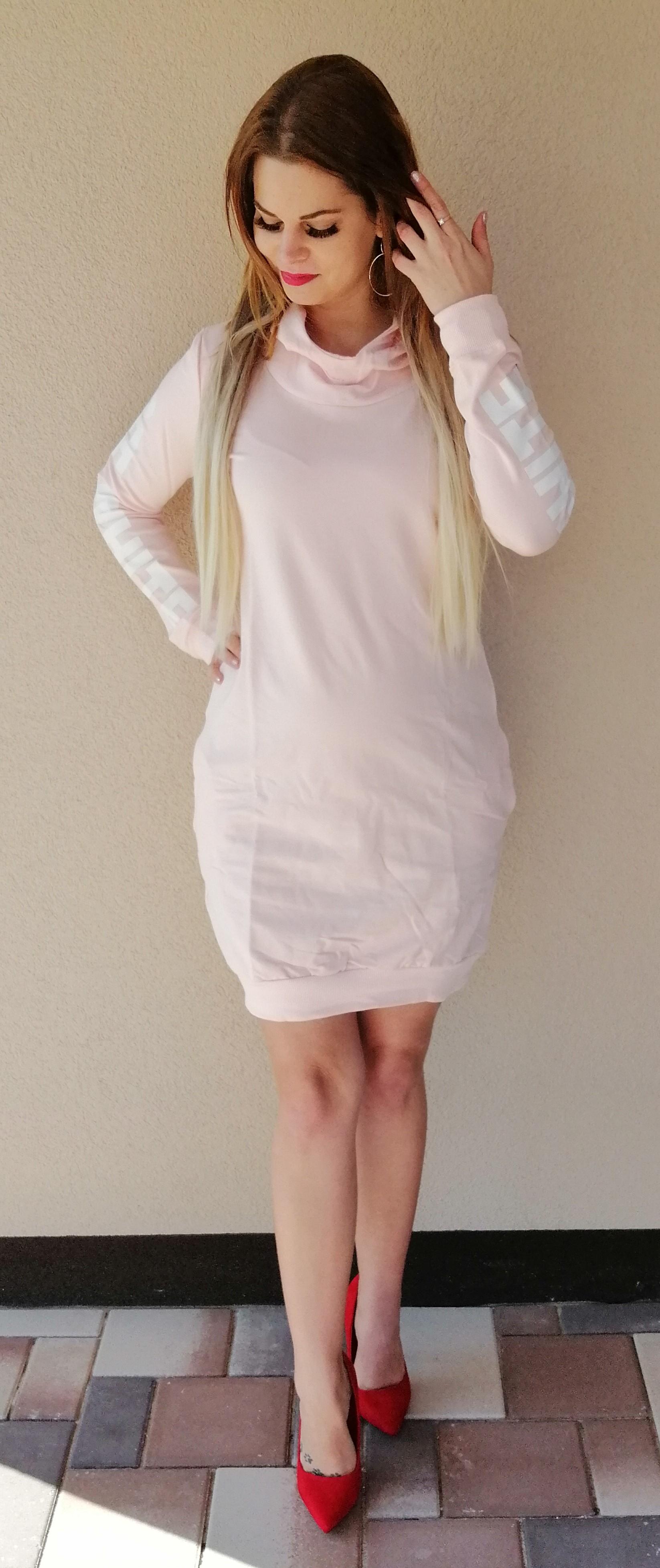6bf0cab4f4ed Športové šaty OFF-WHITE slabo ružové