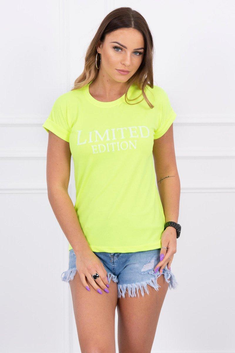 f300b9927f89 KESI Dámske tričko s krátkym rukávom LIMITED EDITION neón žlté EUR UNI