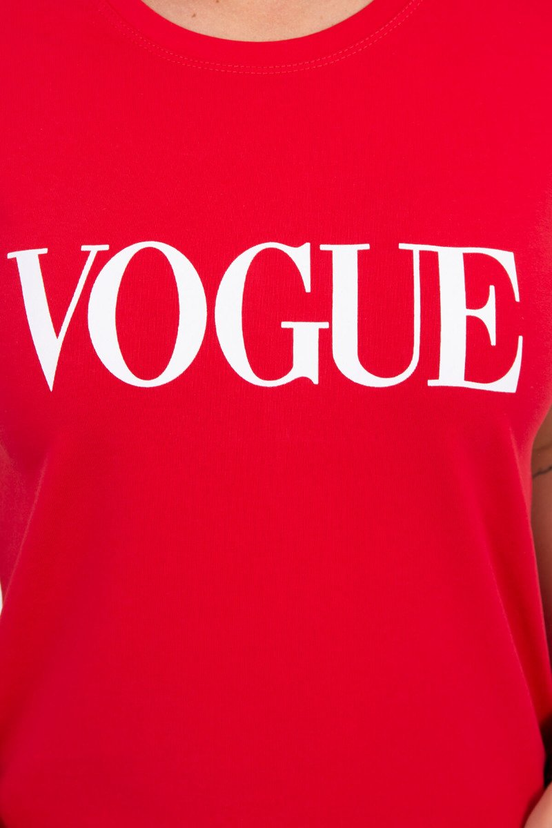 845dc669d9b0 KESI Dámske tričko s krátkym rukávom VOGUE červené EUR UNI
