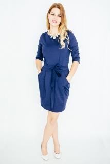 a91f19cf5fd COCOVIU Tmavo modré šaty Tulipán
