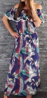 Maxi šaty exotic modré 422a2f3ec15