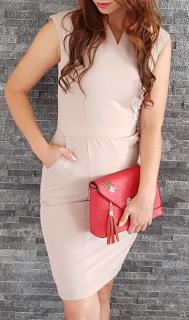 bfdb4dee644e Business šaty béžové