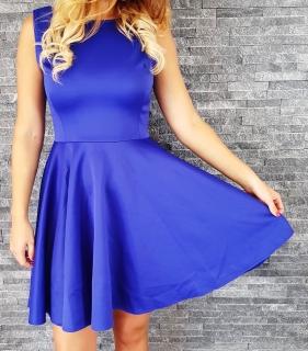 4abb571f046 COCOVIU Kráľovsky modré koktejlové šaty Ľalia II
