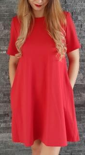 d4d63079f076 COCOVIU Červené oversized šaty