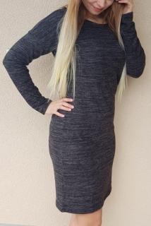 9ff45ff2e56b Melírované šaty tmavo šedé