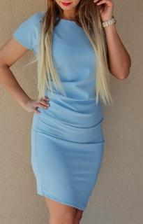 d3a1c4163920 Asymetrické elegantné šaty slabo modré